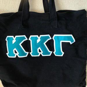 Teal lettered KKG Tote Bag Kappa Kappa Gamma
